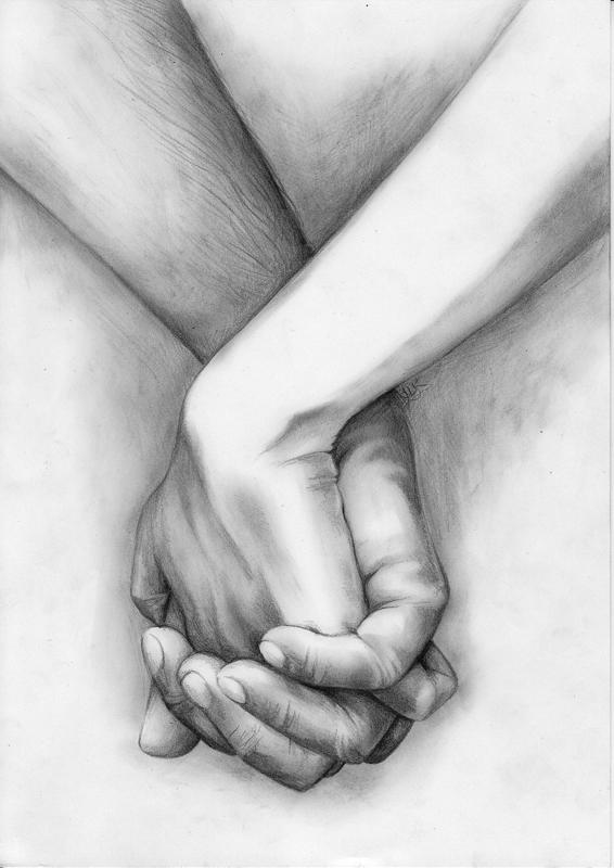 kumpulan kata yang tercecerHolding Hands Love Sketch